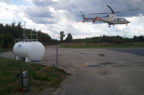 Flugkraftstoff Tankanlage Heli