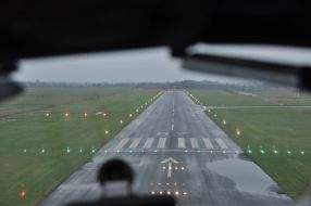 Emden-Flughafen-Anflug