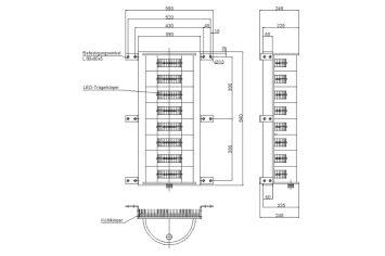 DWT-OBS-LED-AOL-304-2012-A Hochleistungs-Hindernisfeuer Abmessungen