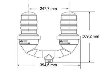 DWT-OBS-LED-S Doppelhindernisfeuer Zeichnung