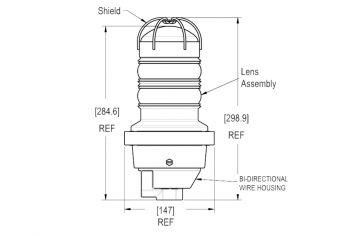 DWT-OBS-LED-S-EX Explosionsgeschütztes Einzelhindernisfeuer Abmessungen