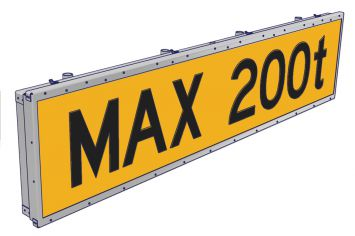 DWT-TXS-LED Rollverkehrhinweisschild
