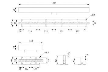 DWT-Instalight1060 Abmessungen