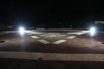 Beleuchtung Hubschrauberlandeplatz